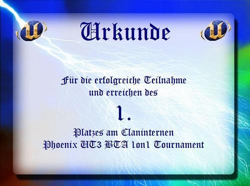 Platz 1 im PHX BTA Tournier